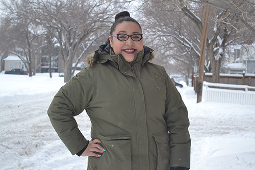 Twenty four year old Demi Benjoe is excited to open a food truck business that offers healthy and affordable food. She is looking forward to taking her food truck to Indigenous events, offering a nutritious alternative for her community. Photo by Madina Azizi.