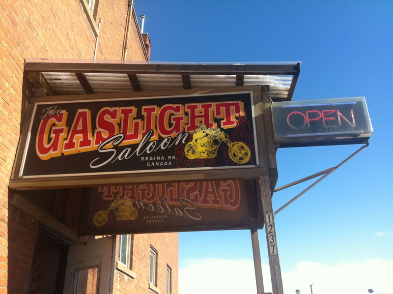 The Gaslight Saloon on Broad Street in Regina, SK.