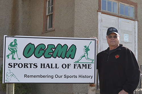 Wayne Peterson, the creator of the Ogema Sports Hall of Fame