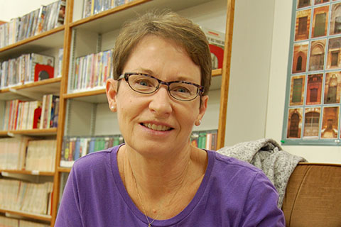 At the Ogema Public Library, Donna Hartley says that sometimes a library is the only place that can take care of a community's needs. Photo by Lynn Giesbrecht.