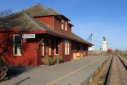 Ogema Train station setup by Alec