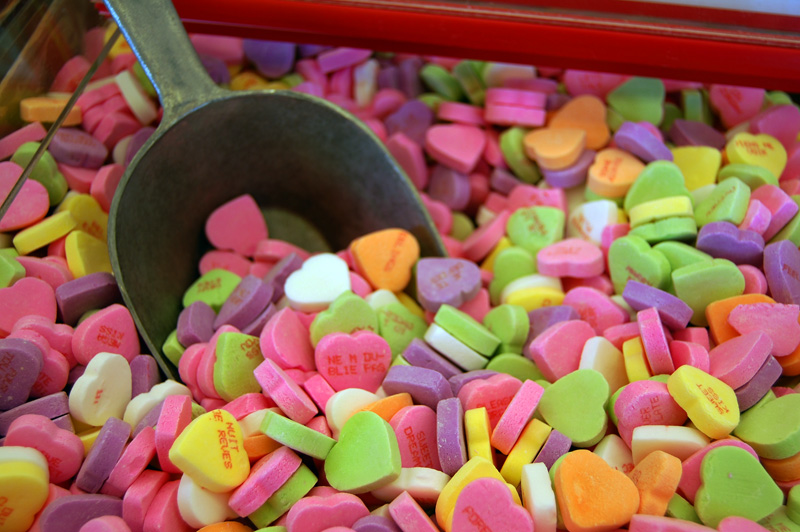Candy is used as a symbol of love for Valentine's Day.. Photo by Maureen Mugerwa