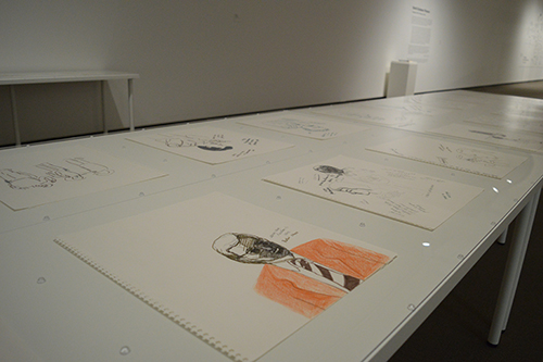"Jeff Funnell's art installation ""Notes from the Inquest"" at the Mackenzie Art Gallery"