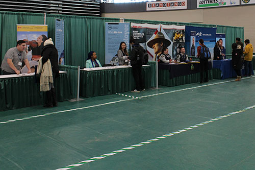 Career booths at spring fair