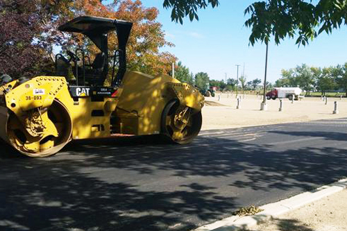 U of R parking lot under construction. Photo by Rebekah Lesko