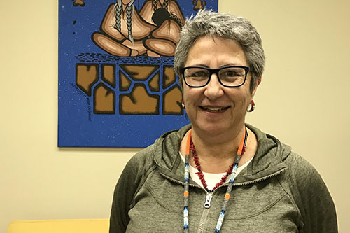 Brenda Dubois, Grandmother at the University of Regina, emphasized that it's important for women from diverse backgrounds to gather together to find common ground on International Women's Day. Photo by Janelle Blakley.