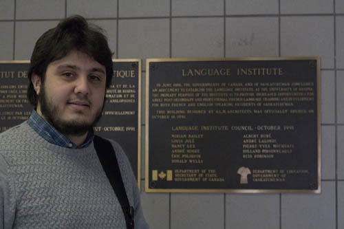 Ali Alarbah, a petroleum engineer from Libya who is studying ESL at the U of R talks about how international student visa process gets delays. Photo by Rafique Bhuiyan