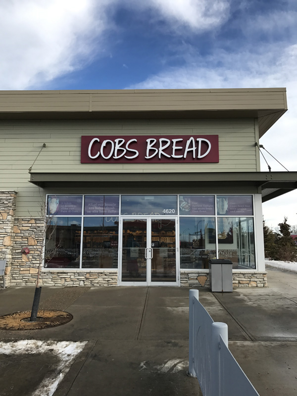 Entrance of Cobs Bakery