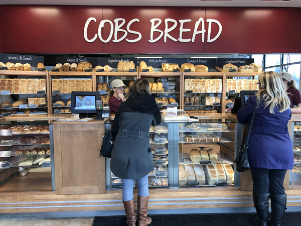 Customers at Cobs Bakery
