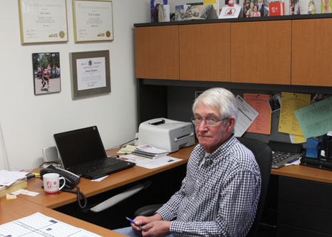 Tom Graham at his office in Regina