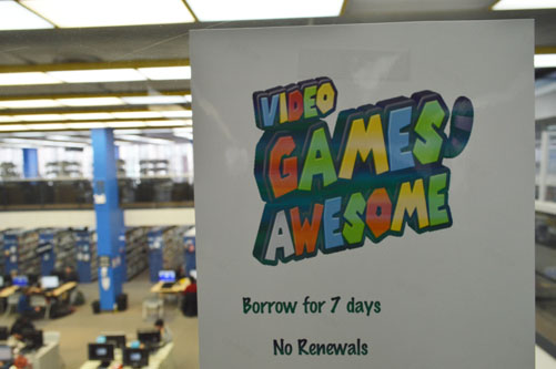 The Regina Public Library introduced video games to their collection two years ago as part of a larger effort in using modern technology to capture people's interest. Photo by Ethan Stein.