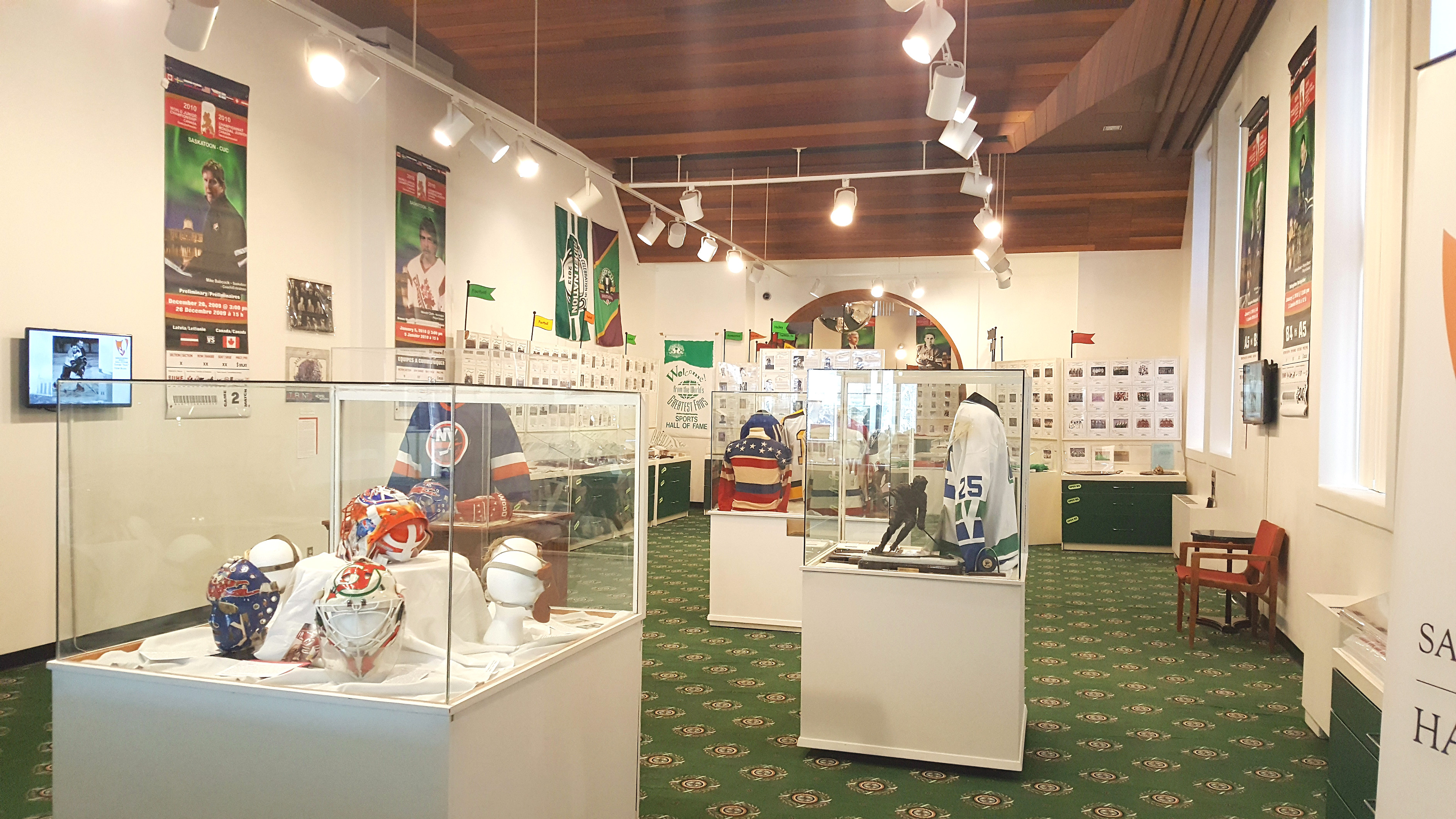 "Saskatchewan Sports Hall of Fame in Regina exhibits the artifacts of the legends from the National Hockey League (NHL) in their latest exhibition, ""Frozen Fables: A Century of Saskatchewan in the National Hockey League.""  Photo by Sumaira Alwani"