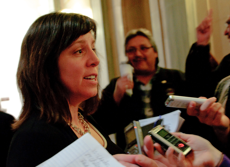 NDP social services critic Danielle Chartier, argues Child Care Subsidy parameters need to be revised. Photo by Iryn Tushabe