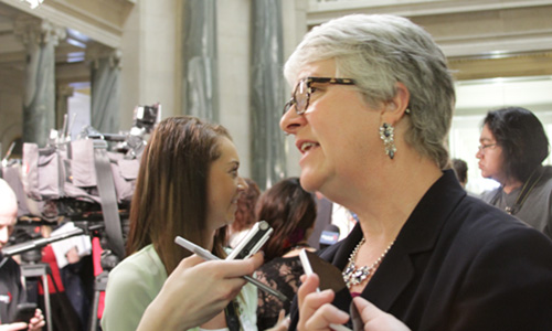 NDP critic Cathy Sproule.