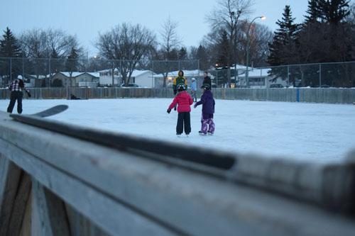 Regina outdoor hockey rink. Photo by Allison Bamford.