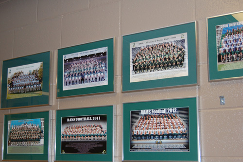 Photos of past Regina Rams teams.