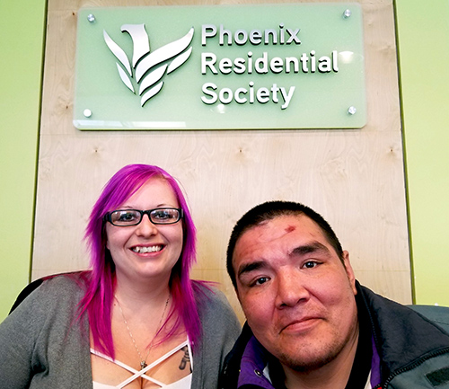 Phoenix Residential Society supervisor Kendra Giles and Phoenix Society client Harley Kye.